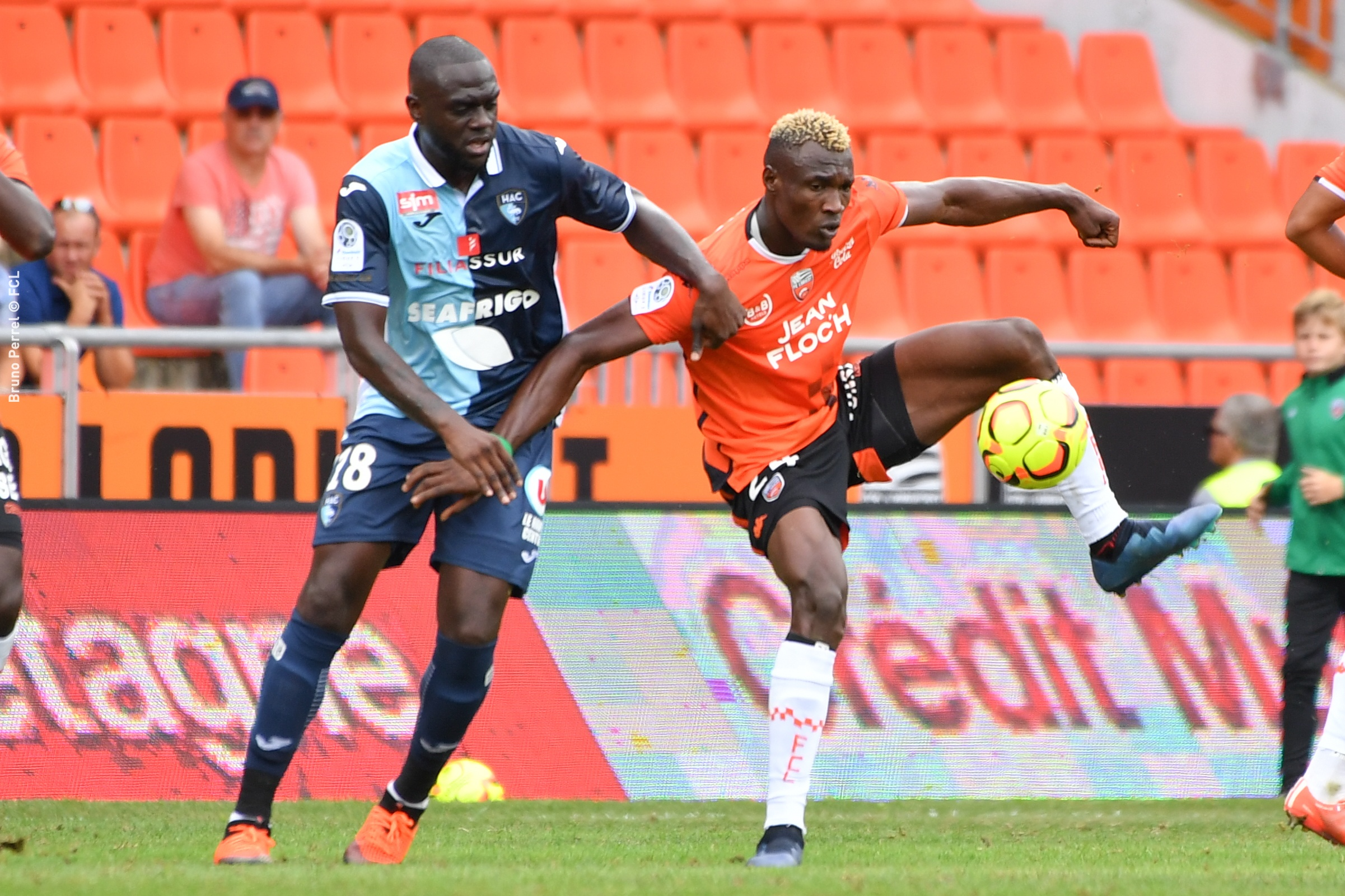 Wadja Franklin (FC Lorient) - YOUGA Amos (Le Havre Athletic Club)